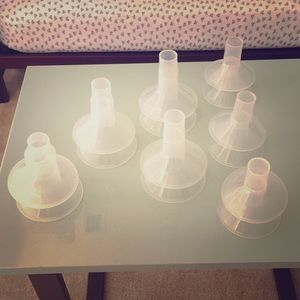 Unused Medela breast shields/flanges